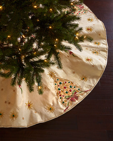 Kim Seybert Retro Christmas Tree Skirt