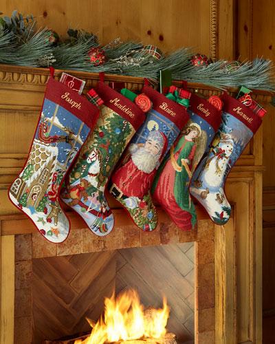 Needlepoint Holiday Stocking
