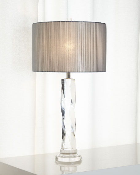 Twisted Glass Buffet Lamp