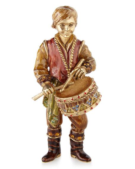 Jay Strongwater Drummer Boy Figurine