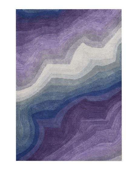 Wave Pattern Rug, 8' x 10'
