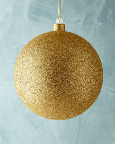 Gold Glitter Ball Christmas Ornament