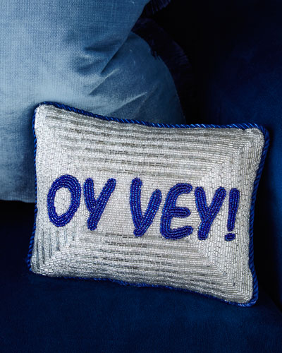 """Oh Vey"" Pillow"
