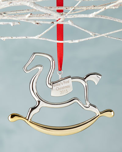 Baby's 1st Rocking Horse Christmas Ornament