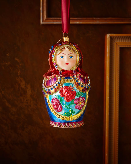 Jay Strongwater Russian Nesting Doll Christmas Ornament