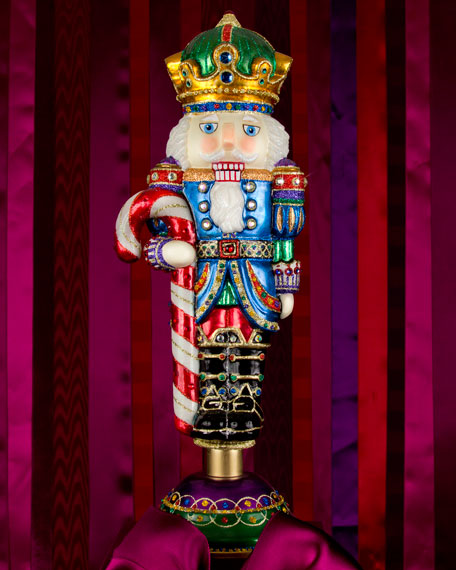 Jay Strongwater Nutcracker With Candy Cane Neiman Marcus