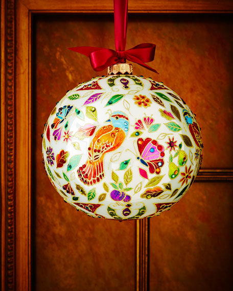 Limited Edition Luxury Christmas Ornaments: Jay Strongwater Partridge Limited Edition Christmas Ornament