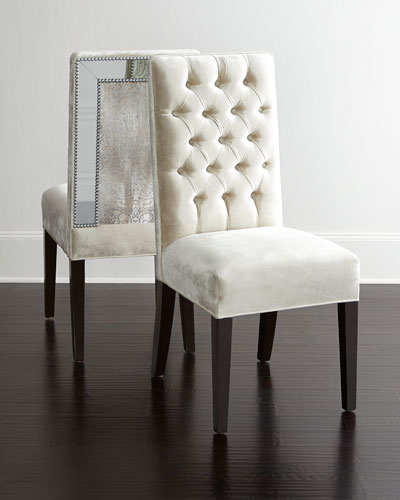 Haute House Brittney Mirrored Dining Chair amp Alden Trestle  : NMH7XAXmk from www.neimanmarcus.com size 400 x 500 jpeg 26kB