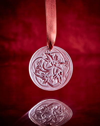 Feuilles Clear Annual Christmas Ornament