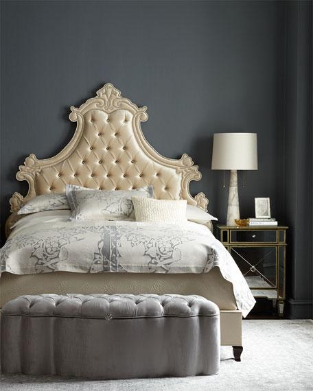 Haute House Gustav Bed & Storage Ottoman