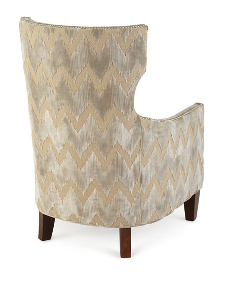 Thomas Chevron Tufted Chair