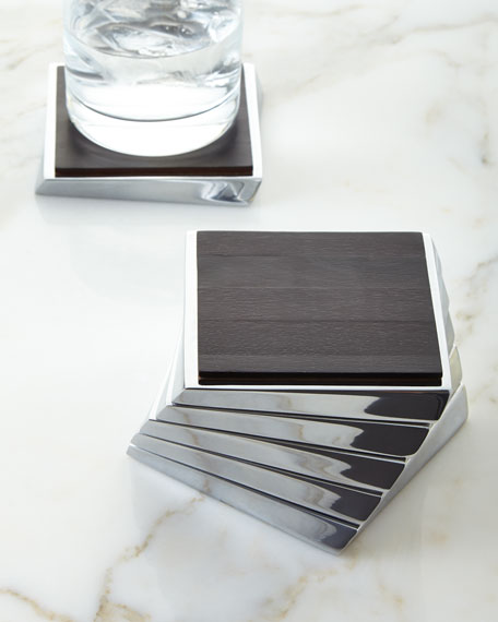Nambe Twist Espresso Coaster Set