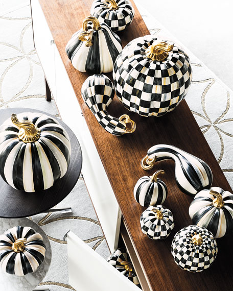 MacKenzie-Childs CRTLY STRIPE PUMPKIN-GREAT