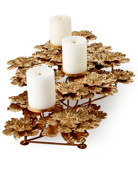 FLOWER PILLAR CANDLE CENTERP