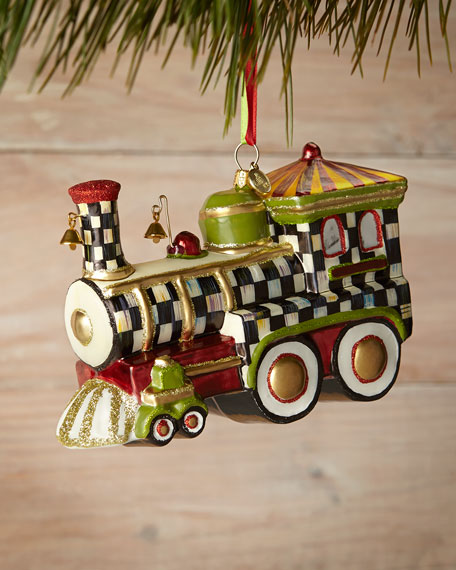 MacKenzie-Childs Christmas Choo Choo Ornament