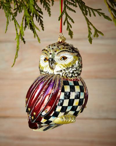Regal Owl Christmas Ornament