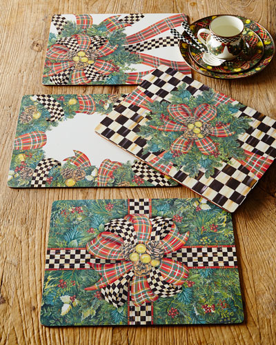 Evergreen Cork-Back Placemats, Set of 4