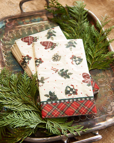 Courtly Noel Paper Guest Napkins