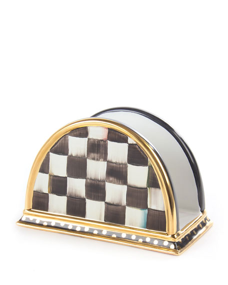 MacKenzie-Childs Courtly Check Napkin Holder