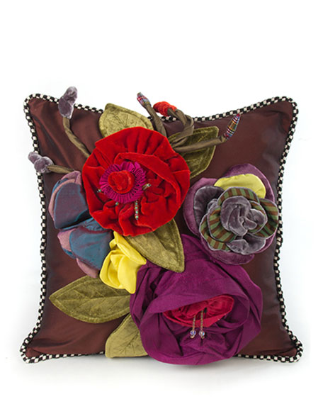 MacKenzie-Childs Botanic Large Square Pillow