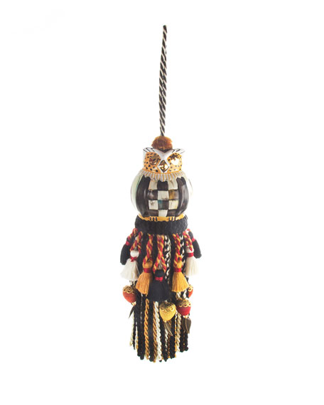 MacKenzie-Childs Courtly Check Owl Tassel