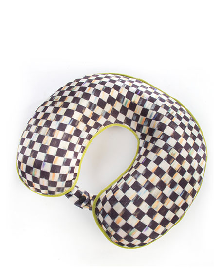MacKenzie-Childs Courtly Check Travel Pillow
