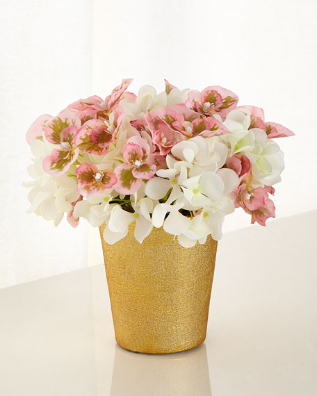 Blushing Beauty Small Hydrangea Faux-Floral Arrangement