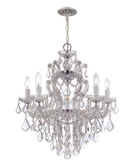 Crystal Drop 6-Light Chandelier