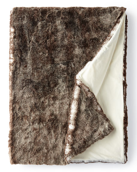 Frosted Faux-Fur Throw