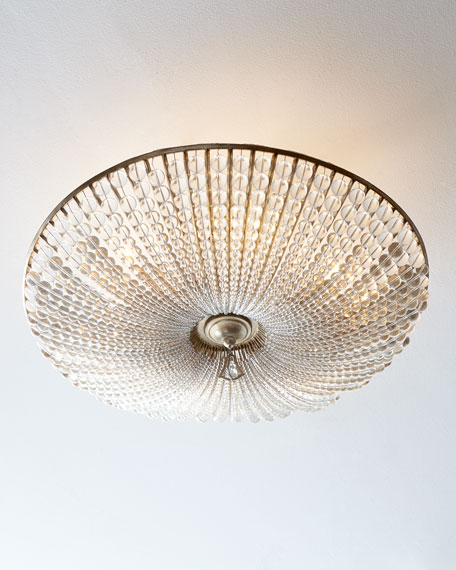 John-Richard Collection Beaded Crystal Six-Light Semi-Flush