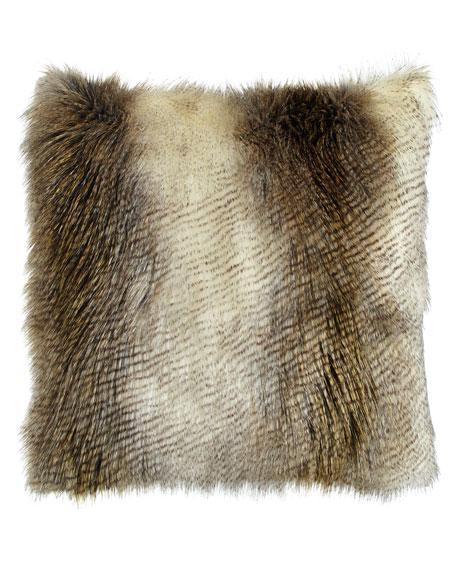 Forester Alaska Hawk Faux-Fur Pillow