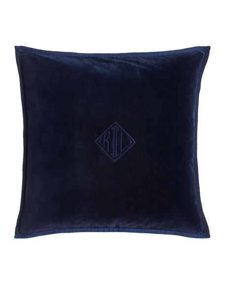 "Colton Navy Pillow, 18""Sq."