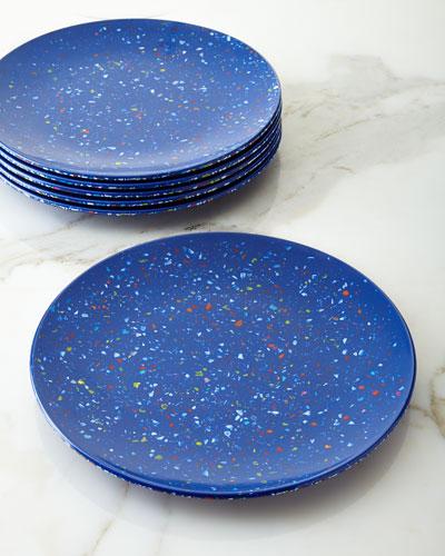 Six Confetti Melamine Dinner Plates