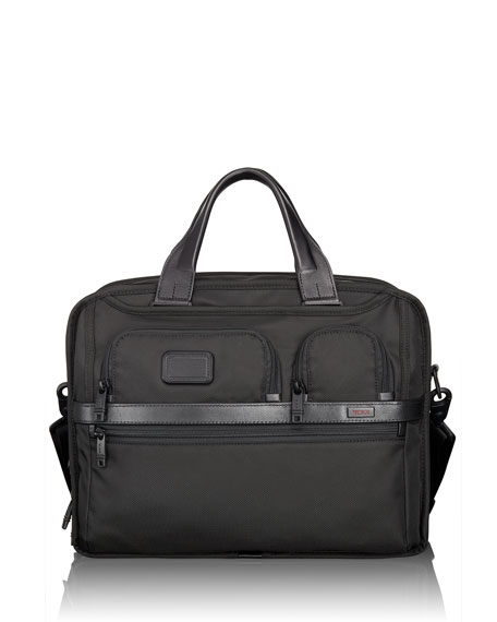 TUMI Alpha 2 Black Expandable Laptop Brief