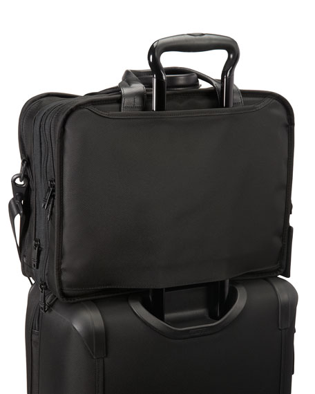 Alpha 2 Black Expandable Laptop Brief