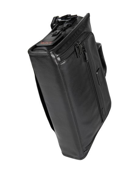 Alpha 2 Black Leather Slim Deluxe Portfolio