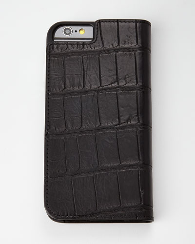 Black Alligator iPhone 6 Wallet Folio