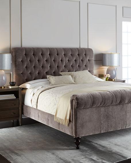 Lourdes Tufted Queen Bed