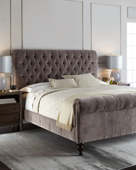 Old Hickory Tannery Lourdes Tufted Bed