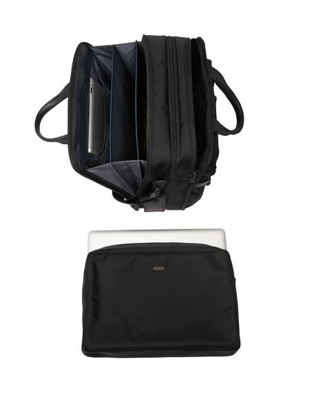 Alpha 2 Black Expandable Organizer Laptop Brief