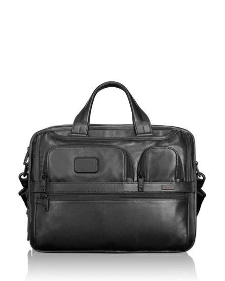 TUMI Alpha 2 Organizer Laptop Brief, Black