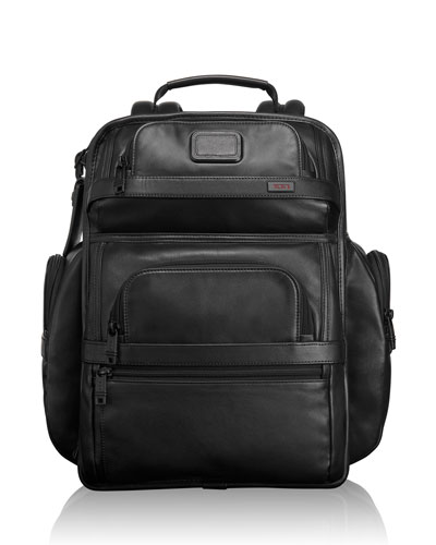 Alpha 2 Black Leather Business Class Brief Pack