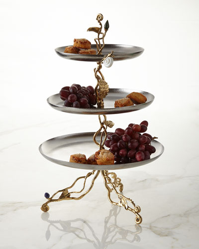 Enchanted Garden Three-Tier Etagere