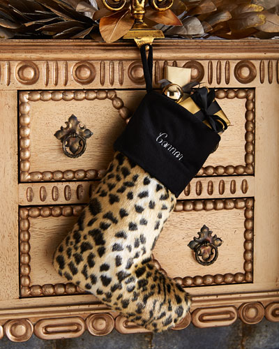 Faux-Leopard Christmas Stocking