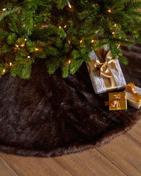 Faux-Sable Christmas Tree Skirt