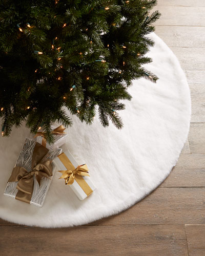 Faux Mink Christmas Tree Skirt