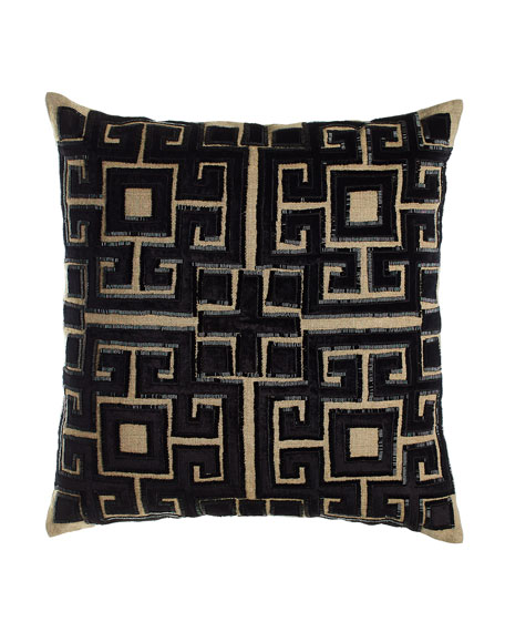 "22""Sq. Beaded Doron Pillow"