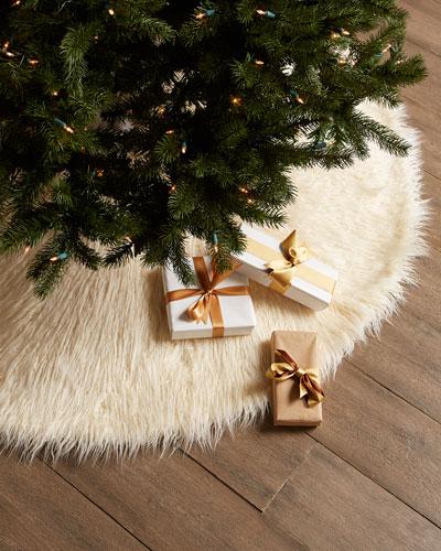 Faux Mongolian Lamb Christmas Tree Skirt