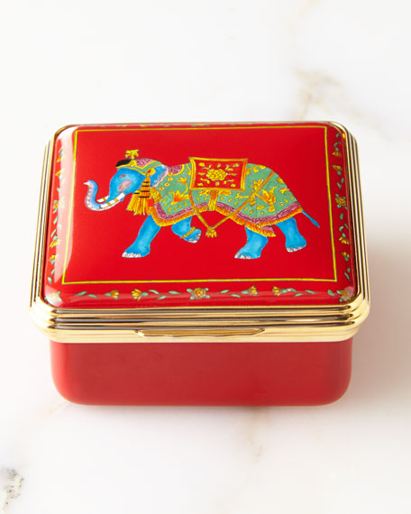 Halcyon Days Ceremonial Elephant Red Box