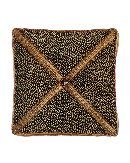 Sweet Dreams Exotica Animal-Patterned Velvet Box Pillow, 14